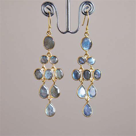 Chandelier Drop Earrings Ruby Gold Chandelier Drop Earrings By Rochelle Shepherd Jewels Gold And Silver Gemstone