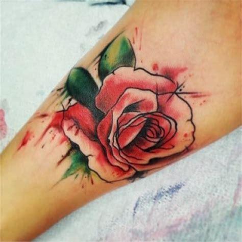 water colour rose tattoo 46 beautiful watercolor tattoos