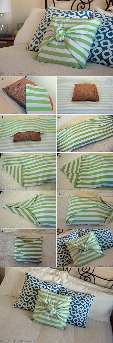 How To Make Easy Pillow Cases by No Sew Pillow Diy Alldaychic
