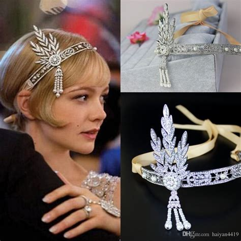 gatsby accessories for curly hair lapper 1920s great gatsby tiaras hair accessories party