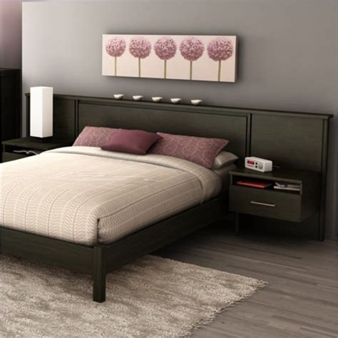 platform bed kit gravity queen platform bed and headboard nightstand kit in