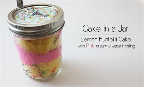 what is a jar birthday cake in a jar