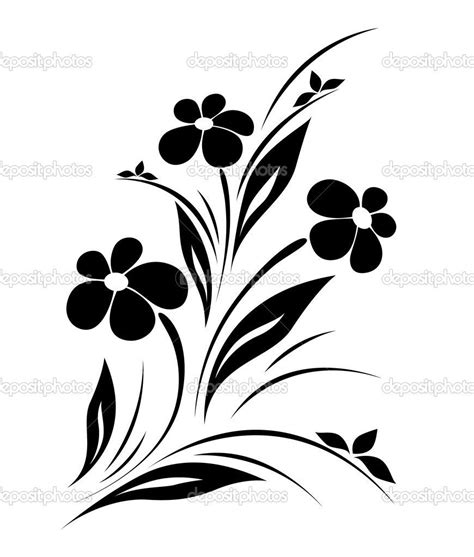 flower pattern stock illustrations vector flower pattern on white background stock vector