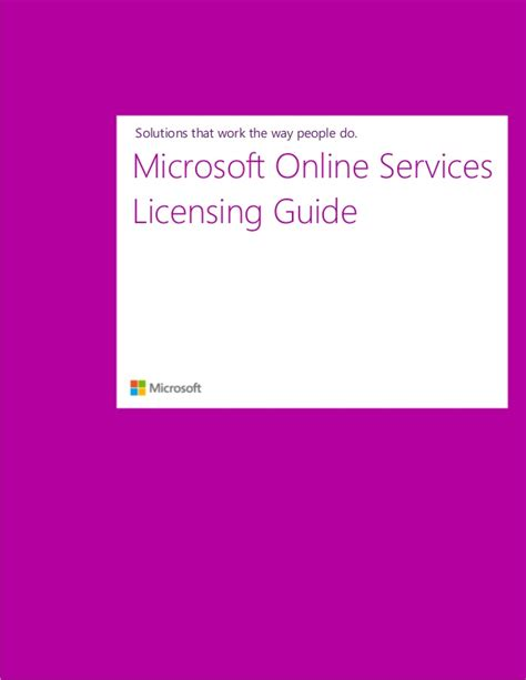 service license microsoft services licensing guide