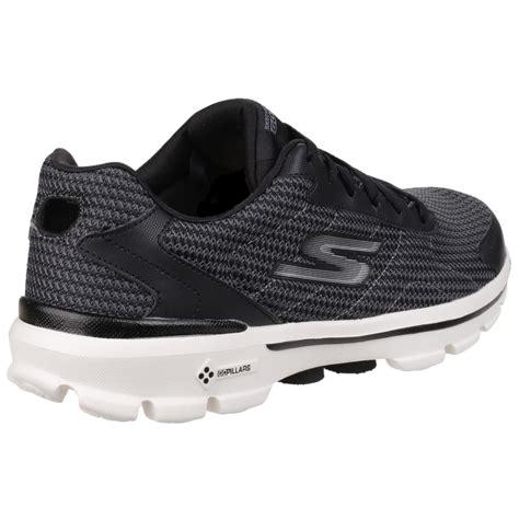 skechers knit shoes skechers go walk 3 fit knit s black white sports