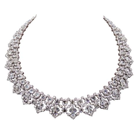 Amazing Home Interiors by Unique Rose Cut And Full Cut Diamond Necklace For Sale At