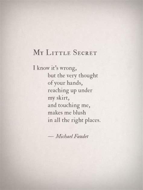 sexiest poems my secret by michael faudet shameless book club