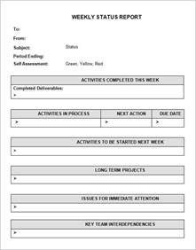 Weekly Accomplishment Report Template Sample Status Report Template 7 Free Documents Download