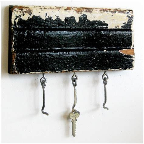 key rack repurposed decorative wood molding black and