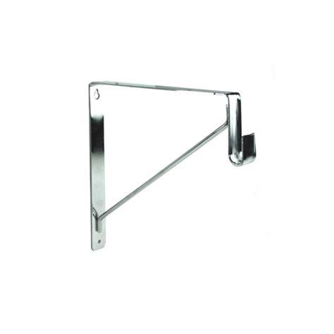 polished chrome shelf rod bracket for oval closet rods