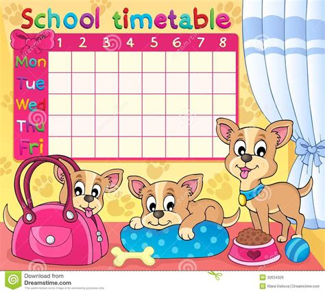 kindergarten timetable template kindergarten timetable template secret santa school timetable thematic image 5 royalty free stock
