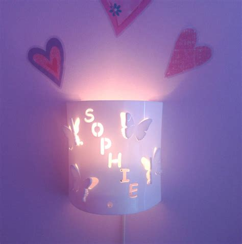 Personalised Butterfly Wall Night Light By Kirsty Shaw Nite Lights