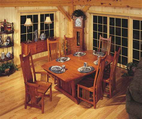 Craftsman Style Dining Room Furniture Mission Style Cherry Dining Room Furniture Craftsman Dining Room Cleveland By Schrocks