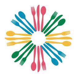 Colored Kitchen Knives fork and spoon clip art cliparts co