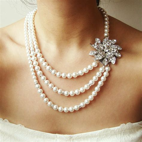 pearls for jewelry bridal necklace deco wedding necklace statement bridal