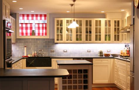 Soapstone Subway Tile - black soapstone counters with colorful subway tile