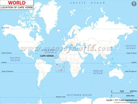 cape verde on a world map where is cape verde location of cape verde