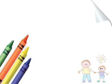 Crayons Board School Powerpoint Templates Blue Education Green Orange Yellow Free Ppt Powerpoint School Templates