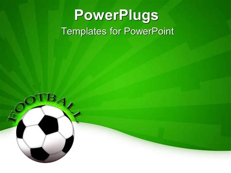 Powerpoint Template A Football Shown With A Greenish Background And A Bit Of Text 12865 Football Powerpoint Templates