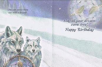 printable wolf birthday cards hold a dream wolf birthday card
