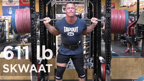 How Much Does John Cena Bench John Cena Squats 611 Pounds Youtube