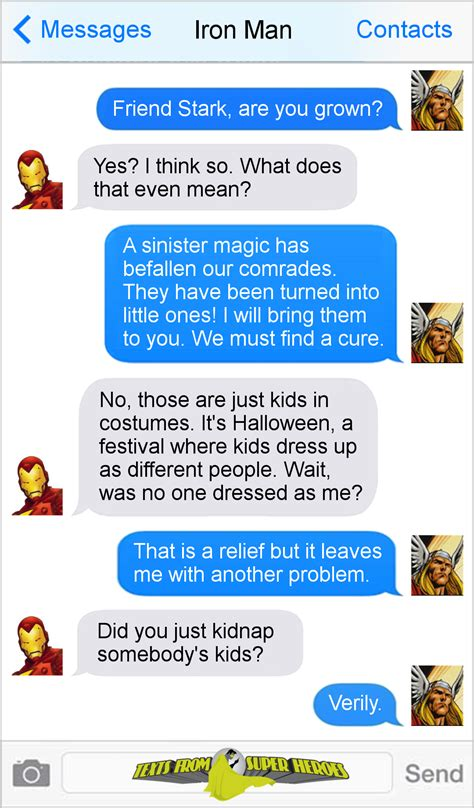 texts from texts from superheroes photo