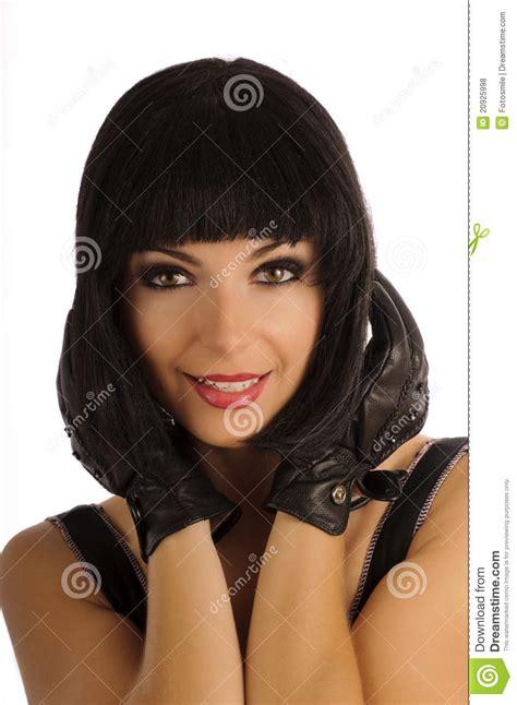 beautiful girl bob beautiful girl with bob hairstyle royalty free stock