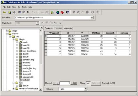arcgis tutorial data dvd sal software arcgis adding data from xy tables
