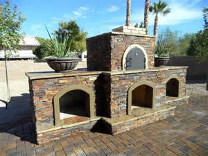 pizza oven fireplace combo completed desert