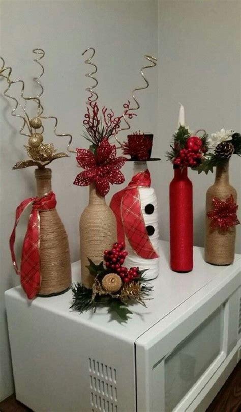 imagenes navideñas elegantes decoraciones de botellas para navidad manualidades