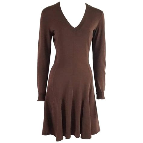 Fl Sl Aleiya Dress alaia brown knit sleeve dress m 1990 s for sale at 1stdibs