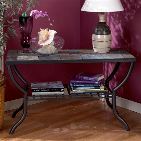 signature sofa table signature design by antigo slate top sofa table