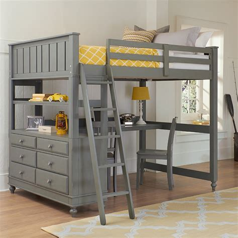bed lofts stone beach house adair loft bed by ne kids
