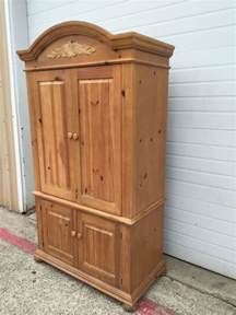 wood 2 armoire door cabinet by broyhill for