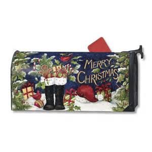 christmas mailbox cover santas boots