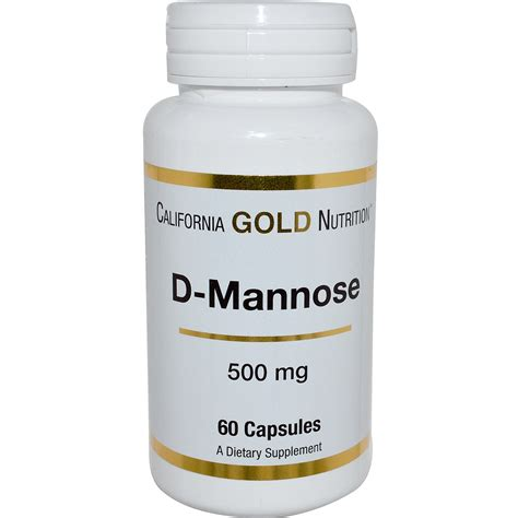 supplement d mannose california gold nutrition d mannose 500 mg 60 capsules