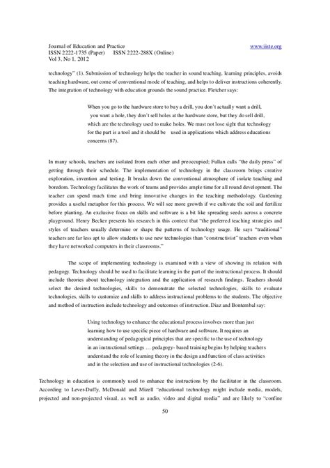 technology in the classroom research paper research paper on using technology in the classroom