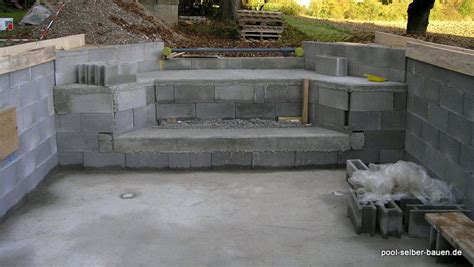 Pool Selber Bauen Fliesen by Pool Selber Bauen Beton Fliesen Kjosy