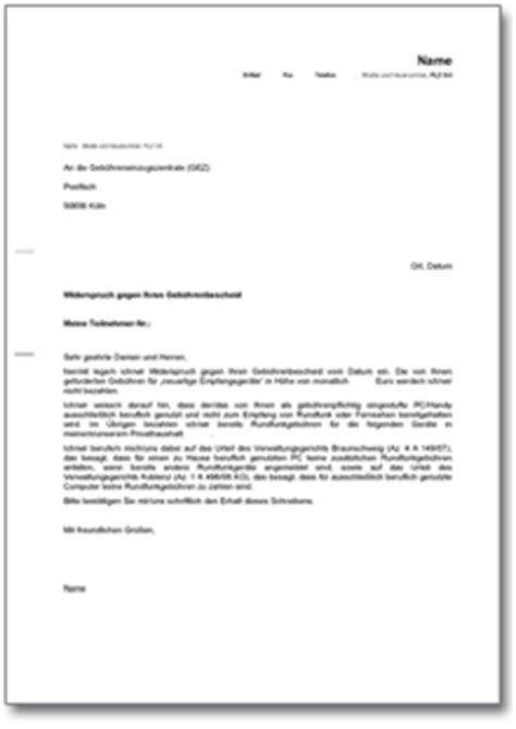 Musterbrief Gez Widerspruch Musterbrief Invitation Templated