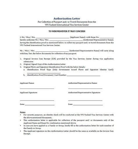 authorization letter for a representative 46 free authorization letter sles templates free