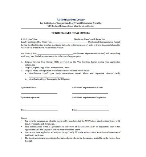 Authorization Letter For Schengen Visa Collection 46 Free Authorization Letter Sles Templates Free Template Downloads