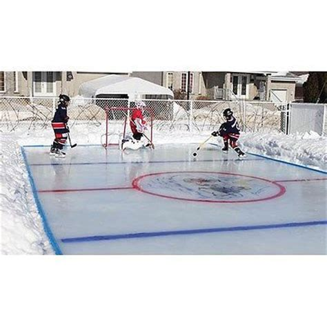 backyard hockey rink kit arctic backyard ice skating outdoor hockey rink kit 50 x25
