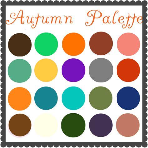 autumn color palette grown up dress up color palette autumn