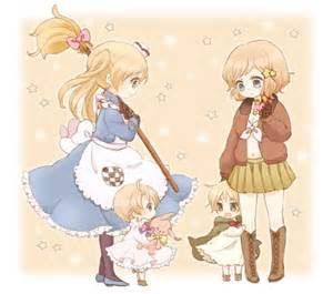 Nyotalia and chibi america and england now this is just adorable