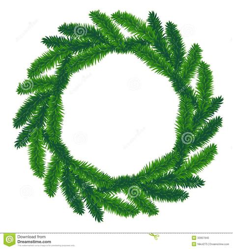 traditional green christmas wreath stock photo image