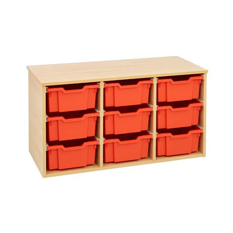 Wooden Storage Units With Drawers by Gratnells 9 Tray Wooden Storage Unit Beech Office