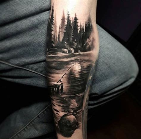 imagenes de paisajes tatuajes landscape tattoo tattoos pinterest paisajes
