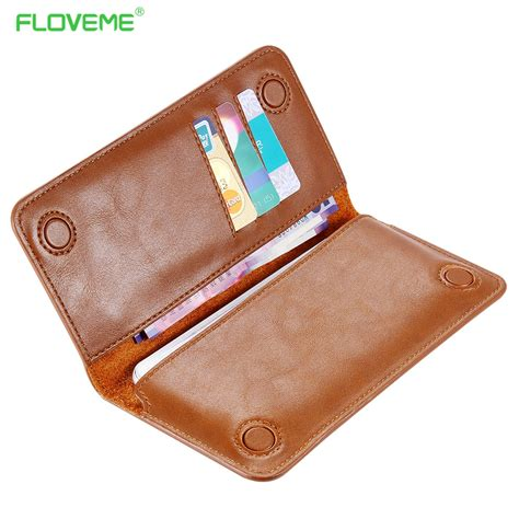 Original Samsung Universal Leather Pouch For Iphone 55s5se Etc floveme 5 5 quot universal leather wallet pouch cover for