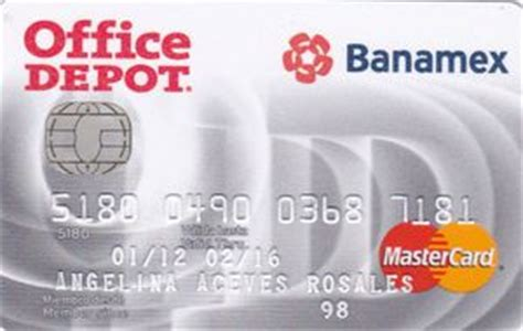 Office Depot Credit Card Login by Bank Card Office Depot Banamex Mexico Col Me Mc 0070