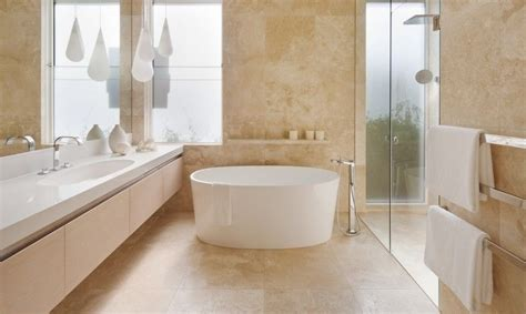 stonecrush travertine bathroom